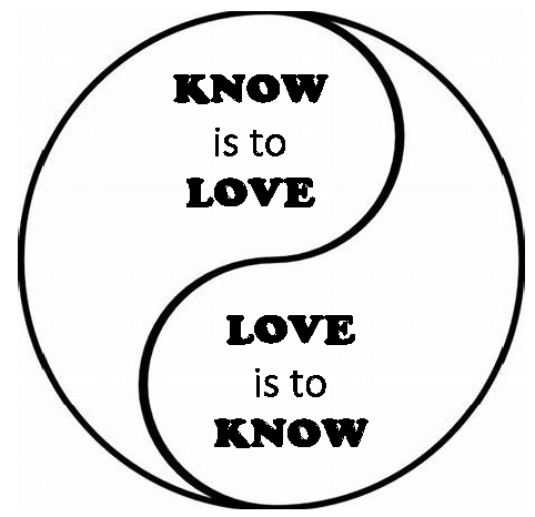 ying yang LOVE KNOW ICON